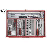 Wózek narzędziowy 282 elementy TCM282