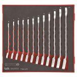 Zestaw 12 kluczy zapadkowych płasko-oczkowych Teng Tools TED6512R