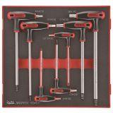 Zestaw 7 kluczy trzpieniowych sześciokątnych z rękojeścią poprzeczną Teng Tools TEDHEX7