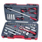 44-elementowy zestaw kluczy nasadowych Teng Tools T1244