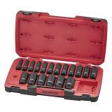 """22-elementowy zestaw nasadek udarowych długich z chwytem 1/2"""" Teng Tools T9222L"""