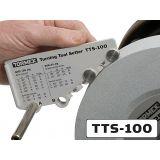 Osprzęt ustawczy do noży tokarskich, zapewniający dokładne wykonanie kształtu i kąta ostrza TTS-100